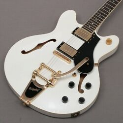 Solid Bond Coursesetter Sandy White W Gold Hardware Semi-hollow Body From Japan