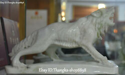 8 Chinese Natural Dushan Jade Carving Violent Wolveswolf Wolves Beast Statue