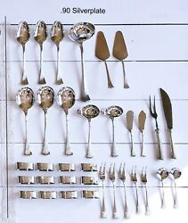 New Robbe And Berking Avenue Pattern 150 Gr. Silverplate .90 Serving Pieces