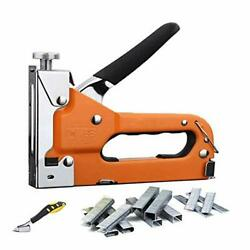 3-in-1 Staple Gun Heavy Duty Tacker Tool Kit With 600 Staples And Nail Remover