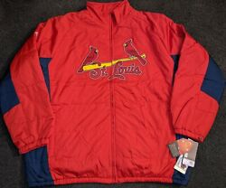 New Mlb St Louis Cardinals Therma Base Majestic Performance Apparel Jacket 4xl