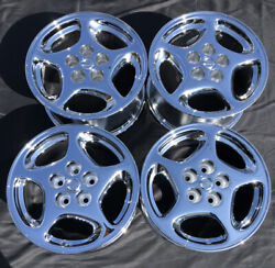 4- New Chrome 16 Nissan 300zx 240sx Altima Oem Wheels Factory 62501