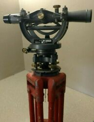 David White Vtg Transit/builders Level 8300 W/ Case And Tripod Recently Calibrated