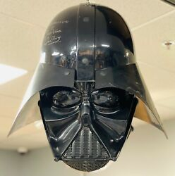 Ultra Rare Giant 22 Wide Star Wars Lord Darth Vader Helmet David Prowse Signed