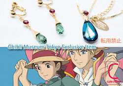 Howl's Moving Castle Necklace And Ear Clips Ghibli Museum Japan Dhl