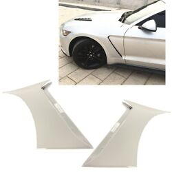For 15-20 Ford Mustang Gt350 Style Front Side Fender Hood Vent Painted White Z1
