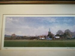 Signed, Limited Watercolour Print Of Wingham Church, Kent By Mc Alexander