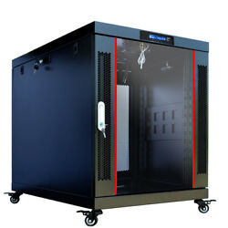 18u Portable Server Rack Cabinet 24and039and039 Depth Enclosure Premium Series On Casters