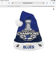 St. Louis Blues 2019 Stanley Cup Champions Santa Hat New With Tags Foco