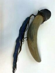 Indian Wars Mid-late 1800s Large Powder Horn Flask