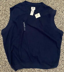 Brand New w Tags Pebble Beach Navy Blue Vest Sweater Lone Cypress Size XL NWT $29.99