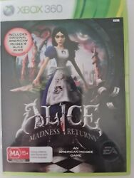 Alice Madness Returns Xbox 360 - Vgc - No Manual - Free Tracked Postage