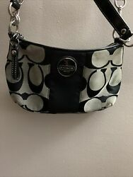 Black Signature Crossbody Coach Purse $45.00