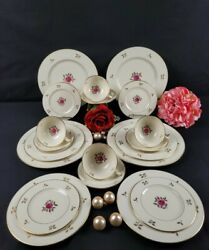 Rhodora By Lenox - Dinner Service For 4 -5 Pc Place Setting 20pcs Discontinued
