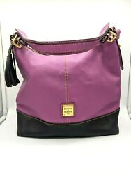 Dooney amp; Bourke Sophie Hobo Purse Fuchsia Black Good Used Condition $60.00