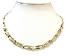 10k Yellow White Gold Turkey Gl Stampato Link Necklace 9.13g