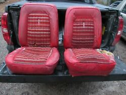 FORD BRONCO RED BUCKET SEATS 1970#x27;S EARY 80#x27;S $299.99