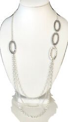 Silpada N1720 Sterling Silver Hammered Cascading Oval Links Loops 32 Necklace