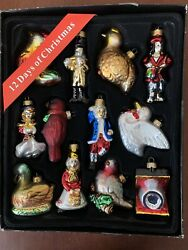 The 12 Days Of Christmas Blown Glass Ornaments