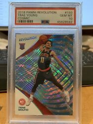 Trae Young 2018 Panini Revolution Rookie Cosmic And039d /100 Psa 10 Gem Mint - Wow