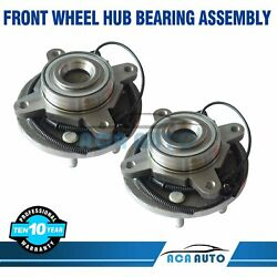 2 Front Wheel Bearing And Hub Assembly For Ford F-150 2wd W/abs 2009 2010 6lug