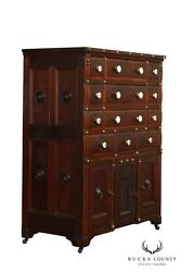 Antique 19th Century Nautical Collectors Cabinet Multi Drawer Chest