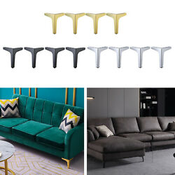 4pcs Furniture Legs Modern Metal Kitchen Cabinet Couch Sofa Table Bed Lounge Leg