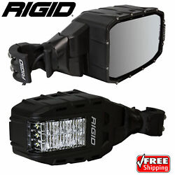Rigid 64011 Reflect Side Mirrors With Led Lights And Turn Signals For Rzr Utv Pair