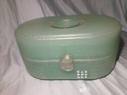 Caboodles Retro Jellies Green Glitter Large Cosmetic Case Organizer Makeup Vtg $23.95