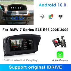 Android 10 Car Gps Radio Stereo Player Wireless Carplay For Bmw 7 Series E65 E66