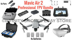 Dji Mavic Air 2 Combo Fpv Bundle With Smart Controller And Goggles / Gpc Hard Case
