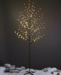 6ft 208l Led Lighted Cherry Blossom Tree Warm White Decorate Home Garden