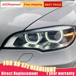 For Bmw X6 E71 Headlights Assembly Bi-xenon Lens Projector Led Drl 2008-2015