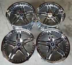 Russtec Forged Wheels Rim 19 Inch 5x114.3 Staggered +25mm Chrome