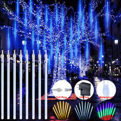 Christmas Led Falling Lights Meteor Shower Rain Snowfall Icicle Garden Outdoor