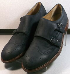 3001457 Tms50 Menand039s Shoes Size 11.5 M Black Leather Slip On Monks H.s. Trask