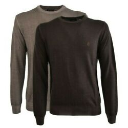 Sweater Conte Of Florence 100 Wool Merino Crew-neck Made In Italy Jersey