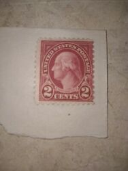 Three Rare George Washington 2 Cents Red Postage Stamps - Two Cent Usps Stamp