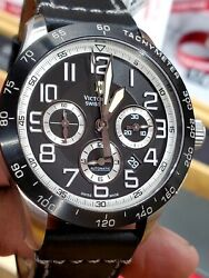 Victorinox Swiss Army Mach 6 Automatic Chronograph Watch 241447 New 45mm Soldout