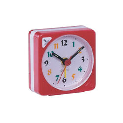 Small Clock Gradient Sound with Light Non Ticking Analog Alarm Clock for