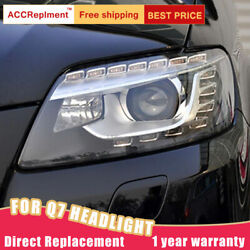 For Audi Q7 Headlights Assembly Bi-xenon Lens Projector Led Drl 2007-2015