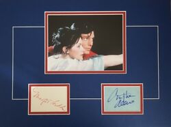Christopher Reeve And Margot Kidder Signed 16x12 Mounted Display Superman Coa