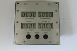 Digital Pump Stroke Counter With 2 Pump Counter Display