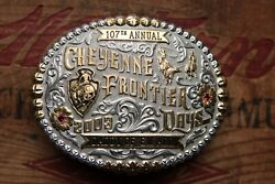 Gist Sterling Silver 107th Annual 2003 Daddy Of Them All Trophy Belt Buckle
