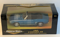 Ertl American Muscle 1969 Chevy Camaro Rs Ss Convertible 118 Diecast Model Car