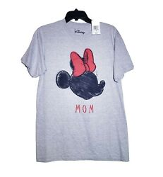 Disney Women#x27;s Plus Size Minnie Mouse Mom T Shirt Short Sleeve Gray Black $17.99