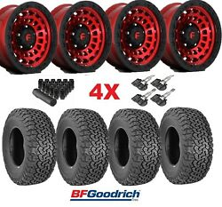 Fuel Zephyr Candy Red Wheels Rims Tires 285 70 17 Ko2 At Package 285/70/17