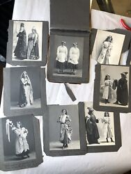 Extremely Rare Victorian Photo Album- Cast Of Theatre Production- Josephine Hull