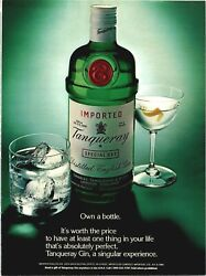 Tanqueray Gin Absolutely Perfect Own A Bottle Special Dry 1984 Vintage Print Ad