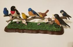 Danbury Mint By Bob Guge 7 Birds On Branch Spring Melodies